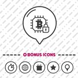 Electronic wallet icon. Bitcoin symbol. Finance sign. Internet Business web symbol. Eps10 Vector Royalty Free Stock Images