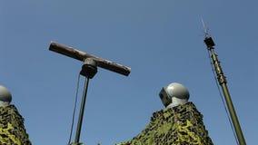 Electronic warfare Military radar rotates Loop ready File stock footage
