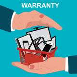 Electronic warranty, flat design, vector illustration Stock Images