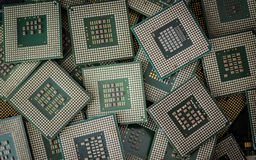 Electronic waste CPUs Stock Photos