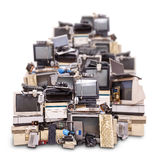 Electronic waste ready for recycling. Isolated on white background royalty free stock images