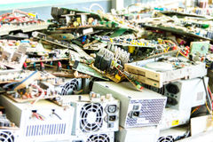 Electronic waste ready for recycling. (mainboard computer royalty free stock photos
