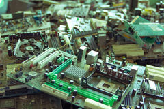 Electronic waste ready for recycling-Viltage filter. Electronic waste ready for recyclingmainboard computer-Viltage filter stock photo