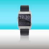 Electronic watch, computer interface. Stock Images