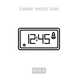 Electronic watch. Linear vector icon. Icon of the electronic watch in a linear style royalty free illustration