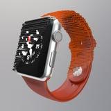 Electronic watch transition Stock Photo