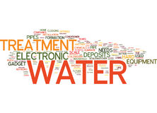 Electronic Water Treatment Text Background Word Cloud Concept stock illustration