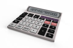 Electronic white  calculator Stock Photography