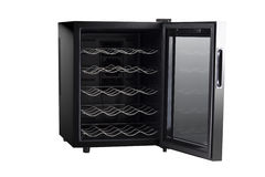 Electronic Wine Cabinet Door Opened Stock Images