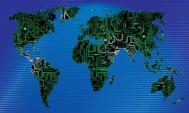 electronic world Stock Image