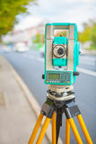 Electronical theodolite Royalty Free Stock Photos