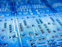 Electronics. Blue electronic board stock image