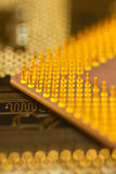 Electronics_2. Inside of computer - motherboard semiconductors and electronics Stock Photos