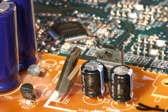 Electronics. This is a part of a circuit board Royalty Free Stock Image