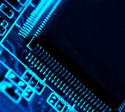 Electronics. Background in blue tone royalty free stock photo