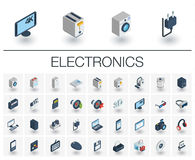 Free Electronics And Multimedia Isometric Icons. 3d Vector Royalty Free Stock Image - 88327076