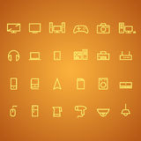 Electronics and appliances icons Royalty Free Stock Photos