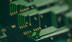Electronics - back of a circuit board Stock Photography