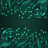 Electronics blue background with circuit board Stock Image