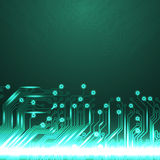 Electronics blue background with circuit board Stock Images
