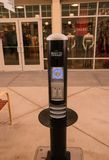 Electronics charging station at Premium Outlet Mall. Glouchester Township, New Jersey - August 18,2018: This electronics charging station is located seen at the Stock Photos