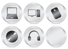 Electronics circle icon Stock Images