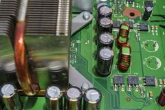 Electronics circuit board stock image