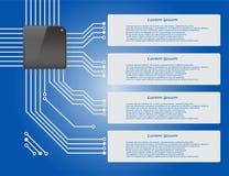 Electronics circuit board Infographics Stock Photos