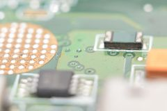 Electronics circuits background Royalty Free Stock Photo