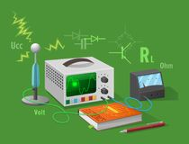 Electronics Class Isolated Illustration on Green Royalty Free Stock Photography