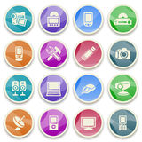 Electronics color icons. Stock Image