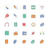 Electronics Colored Vector Icons 6 Royalty Free Stock Photo