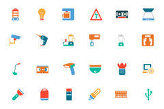 Electronics Colored Vector Icons 4 Royalty Free Stock Photos