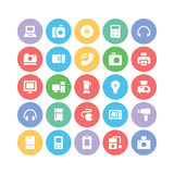 Electronics Colored Vector Icons 1 Royalty Free Stock Photos