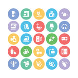 Electronics Colored Vector Icons 4 Stock Photos