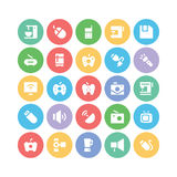 Electronics Colored Vector Icons 2 Stock Images
