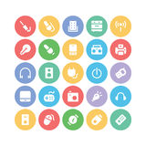 Electronics Colored Vector Icons 6 Royalty Free Stock Photos