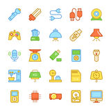 Electronics Colored Vector Icons 3 stock photos