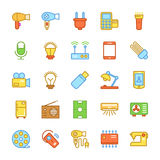 Electronics Colored Vector Icons 1 Stock Photos