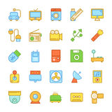 Electronics Colored Vector Icons 7. Set of Electronics Vector Icons that are great for designers, web design templates, android applications or any kind of Stock Image