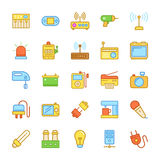 Electronics Colored Vector Icons 5 Royalty Free Stock Photo