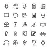 Electronics Colored Vector Icons 4 Stock Photography