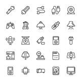 Electronics Colored Vector Icons 3 Royalty Free Stock Photography