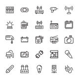 Electronics Colored Vector Icons 5. Set of Electronics Vector Icons that are great for designers, web design templates, android applications or any kind of Royalty Free Stock Images