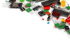 Electronics components background Royalty Free Stock Photos