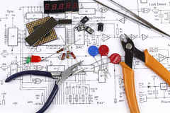Electronics components Stock Photography