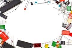 Electronics components frame Stock Image