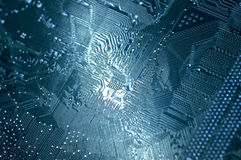 Electronics computer circuit board Royalty Free Stock Photos
