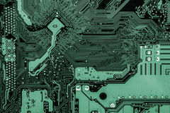 Electronics. Computer mainboard,integrated circuit royalty free stock images