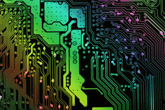 Electronics. Computer mainboard,integrated circuit royalty free stock image